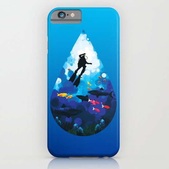Diver of the Blue iPhone & iPod Case