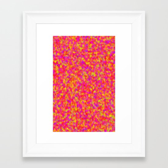 Yellow and Red Framed Art Print