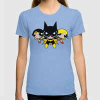 Supertough Girls Womens Fitted Tee Tri-Blue SMALL