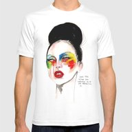 Applause Ga Ga Mens Fitted Tee White SMALL