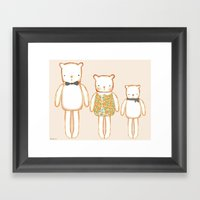 3 Bears Framed Art Print