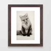 Fox Say What?! Framed Art Print