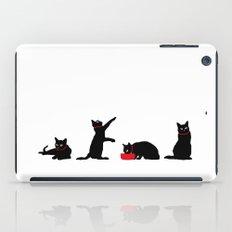 Cats Black on White iPad Case