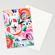 Tropical Sunrise Morning Glory Boho Watercolor Floral Stationery Cards