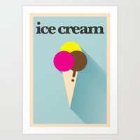 Minimal Ice Cream Poster Art Print