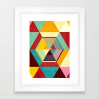 Color Mess Framed Art Print