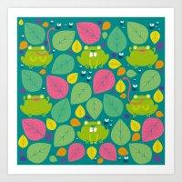 Frogs Pattern Art Print