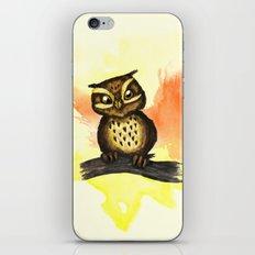 Cute owl. iPhone & iPod Skin