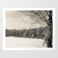 Peaceful Winter Snows  Art Print