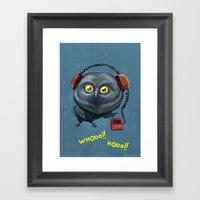 Hooting Lesson Framed Art Print