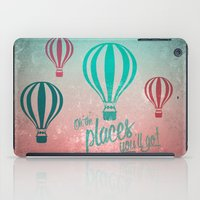 Oh, the Places You'll Go - Coral & Teal iPad Case