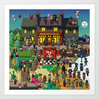Super Mighty Boosh Art Print