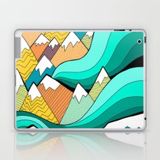 Waves of the mountains Laptop & iPad Skin