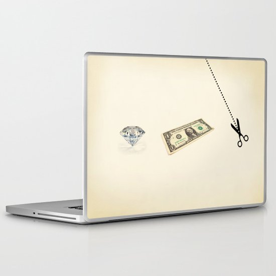 rock, paper, scissors Laptop & iPad Skin