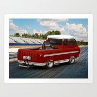 1963 #Ford #Econoline #HotRod Van/Truck Art Print