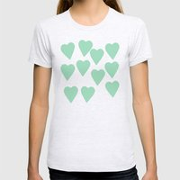 Hearts Mint Womens Fitted Tee Ash Grey SMALL