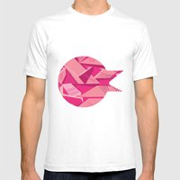 Pink Pattern Mens Fitted Tee White SMALL