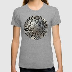 Exoskeleton  Womens Fitted Tee Tri-Grey SMALL