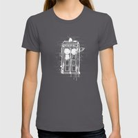 Time Lord Graffiti  Womens Fitted Tee Asphalt SMALL