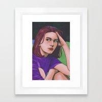 Claire D. Framed Art Print
