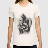 Hand of Freedom Womens Fitted Tee Natural SMALL