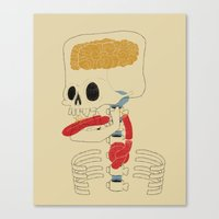 Square Skull...   Canvas Print