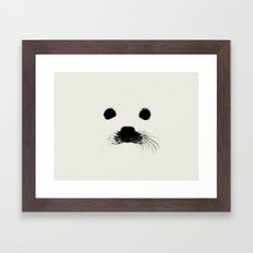 Seal your face in leather Framed Art Print