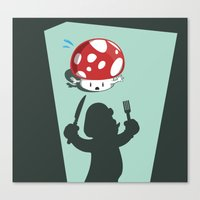 Oh no! It's Mario! Canvas Print