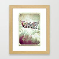 Free Yourself Eagle Framed Art Print
