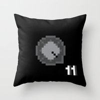 This Is Pixel Tap Throw Pillow