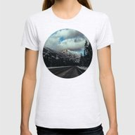Driving In The North Cas… Womens Fitted Tee Ash Grey SMALL