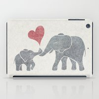 Elephant Hugs iPad Case