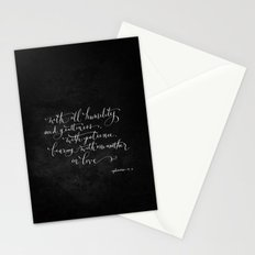 Bearing in Love // White on Black Stationery Cards
