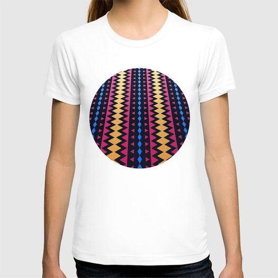 Aztec Pattern with Textured Appearance T-shirt