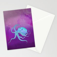 Octopus Swims Stationery Cards