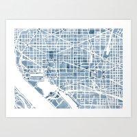 Washington DC Blueprint … Art Print