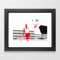 I can't live without my radio Framed Art Print