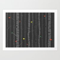 Fall Trees Art Print