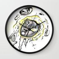 Wall Clock featuring Sinking  by Warhollian