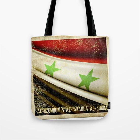 STICKER OF SYRIA flag Tote Bag