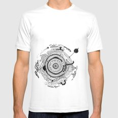 Little planet White Mens Fitted Tee SMALL