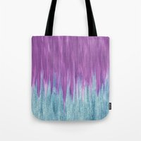 Aqua Sparkle Berry Abstract Tote Bag