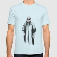 Fashion Illustration Mens Fitted Tee Light Blue SMALL
