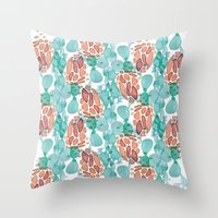 cactus skin all-over Throw Pillow