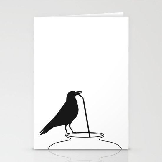 Thirsty crow Stationery Card