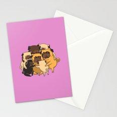 Pugs Group Hug Stationery Cards
