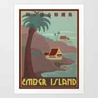 Ember Island Travel Post… Art Print
