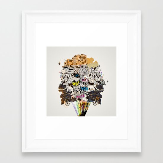 Drawing Collage #03 Framed Art Print
