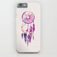 iPhone Cases featuring Girly Pink Purple Dream Catcher Watercolor Paint by Railton Road