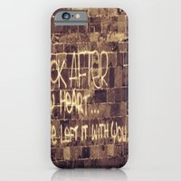 iPhone & iPod Case featuring Take Care of My Heart by shari hochberg